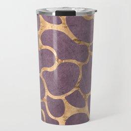 Gold and Purple Travel Mug