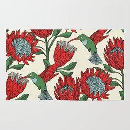 Protea with Hummingbird / Sunbird (Cream) Rug