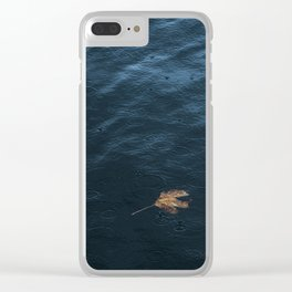 Leaf and Raindrops Clear iPhone Case