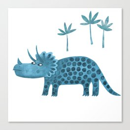 Triceratops Dinosaur Canvas Print