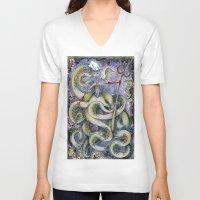 ursula V-neck T-shirts featuring Ursula by Jena Sinclair