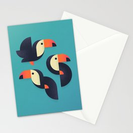 Toucan Geometric - Group Stationery Cards