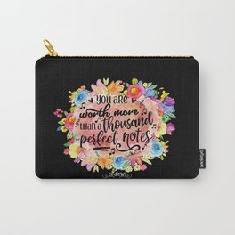 A Thousand Perfect Notes Quote Carry-All Pouch
