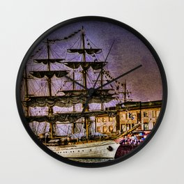 "Tall Ship ""Mircea"" Wall Clock"