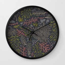 Coral Reef Pattern Wall Clock
