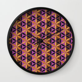 Flower of Life Pattern 13 Wall Clock