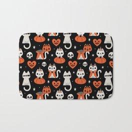 Halloween Kitties (Black) Bath Mat