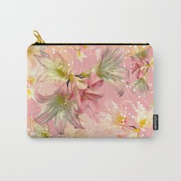 Pink Lillies Luxe Carry-All Pouch