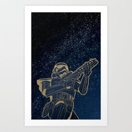 Star Wars Gold Edition Art Print