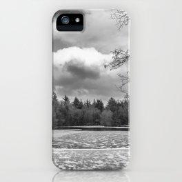 Frozen Lake Panorama iPhone Case