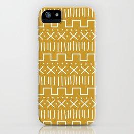 Mustard Mud Cloth iPhone Case