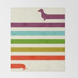 (Very) Long Dachshund Throw Blanket