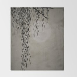 Willow in the moonlight Throw Blanket
