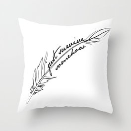 JSS feather Throw Pillow