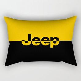 Jeep 'LOGO' Yellow Rectangular Pillow