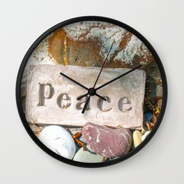 Peace by Mandy Ramsey Wall Clock