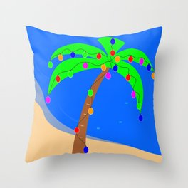 Christmas Palm Throw Pillow