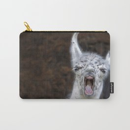 Young Lama with a big mouth   Junges Lama mit grosser Klappe Carry-All Pouch