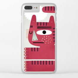 Red Cat Clear iPhone Case