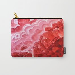 Macro Red Agate Carry-All Pouch