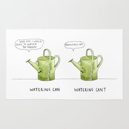 Watering Can or Can't ? Rug
