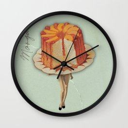 Miss Angel Food Cake #Society6 #BuyArt #Decor Wall Clock