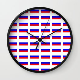 Flag of russia 2 -rus,ussr,Russian,Росси́я,Moscow,Saint Petersburg,Dostoyevsky,chess Wall Clock