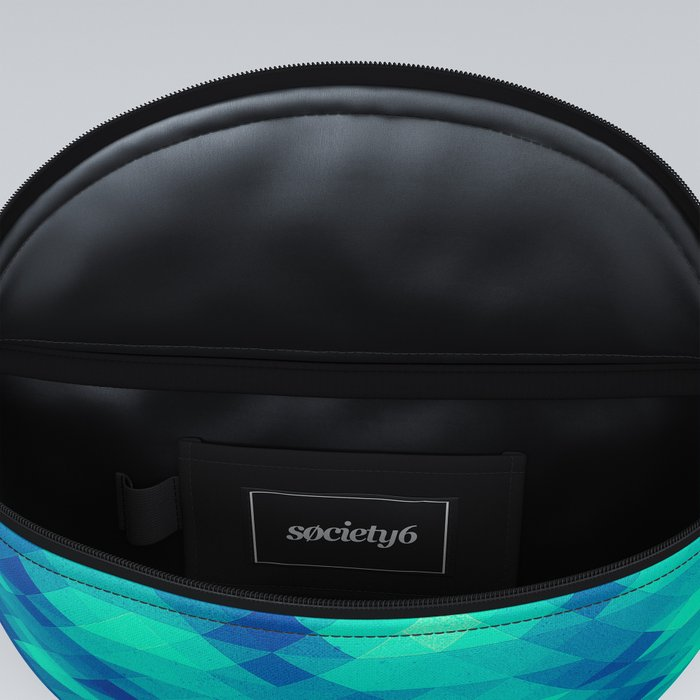 Modern Fashion Abstract Color Pattern in Blue / Green Fanny Pack