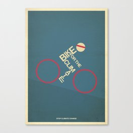 Bike for the climate Canvas Print