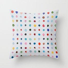 Infinite Polka Daubs Throw Pillow