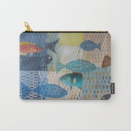 Black and Parrot Carry-All Pouch