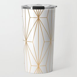 Gold Geometric Pattern Illustration Travel Mug