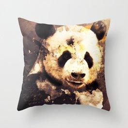 Panda Painting, Panda Mixed Media, Panda Bear, Panda Animal, Pandas Art, Panda Print, Best Panda Throw Pillow