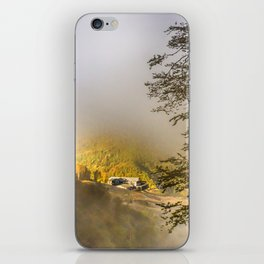 Mountains in the mist iPhone Skin