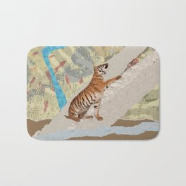 Tiger Cub - Mixed Media Digital art Bath Mat