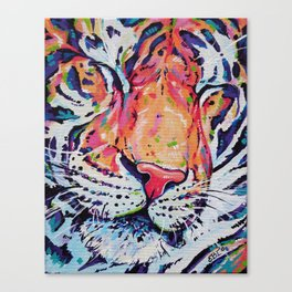 A moment of peace - Tiger painting Canvas Print
