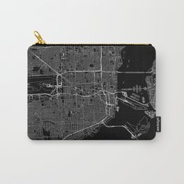 Miami Black Map Carry-All Pouch