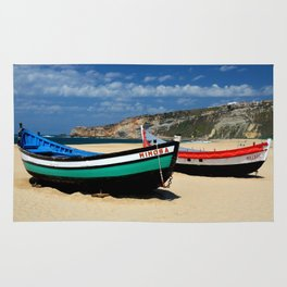 Colorful fishingboats Rug
