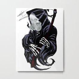 Artisan Artwork 2: Steampunk Grim Reaper Metal Print