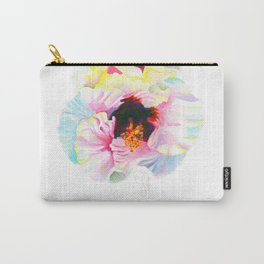 Aloalo / White Hibiscus Carry-All Pouch