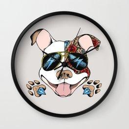 Pits & Giggles Wall Clock