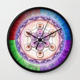 Metatron's Cube - Sun II Wall Clock