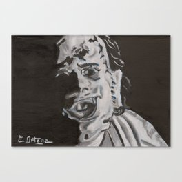 Leather face Canvas Print