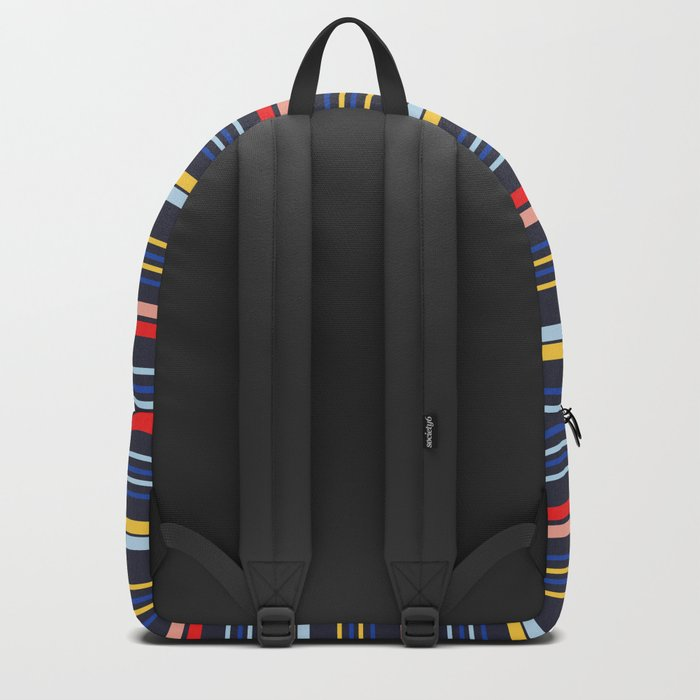 Stripes Blue Backpack