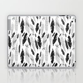 raphic pattern feathers on a white background Laptop & iPad Skin