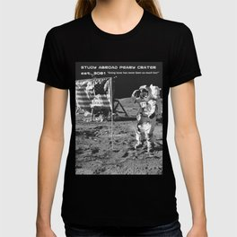 Study Abroad Peary Crator // Funny Astronaut Space Graphic Poster T-shirt