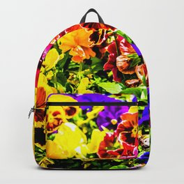 Viola Tricolor Pansy Flowers Backpack