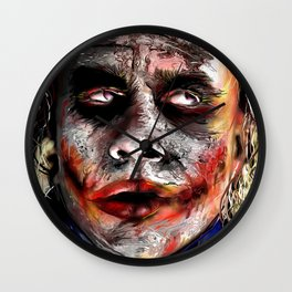 The Joker Painted Wall Clock
