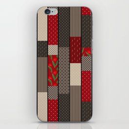 Country motifs . Classic quilting. iPhone Skin