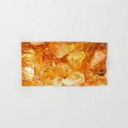 """""""Amber Quartz Solar Orange Crystal Opal Gem Stone"""" Hand & Bath Towel"""